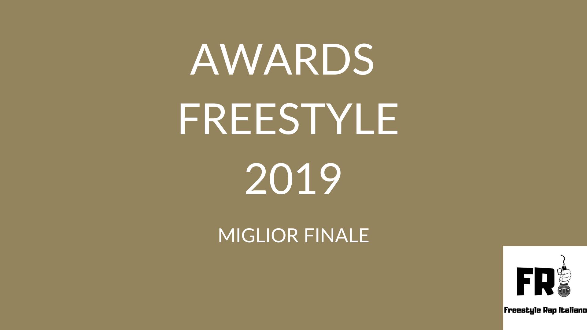 Awards del freestyle 2019: Le migliori finali