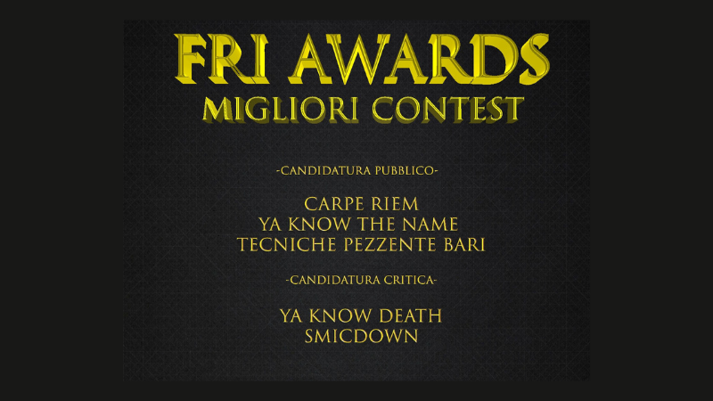 Awards Freestyle 2020 – I migliori contest